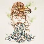 Oiseaux - Année 2013 - Aquarelle sur papier Arches - ©Christine Lucchini